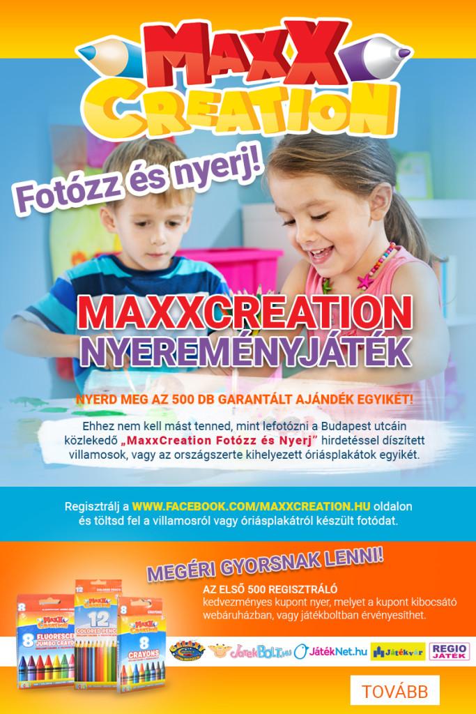 MaxxCreation nyereményjáték